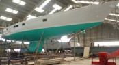 32m superyacht Lunar Mist at Solent Refit