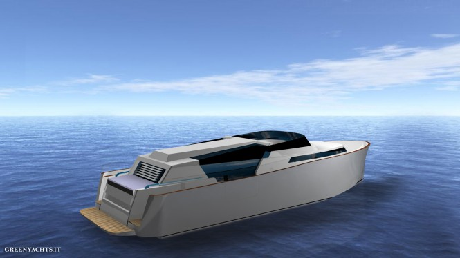 33 Limousine yacht tender - rear view