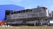 33m sailing yacht Cosmoledo under construction at Alu Marine