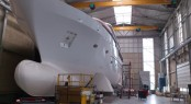 44m luxury motor yacht BN 141 in build at Bloema & Van Breemen