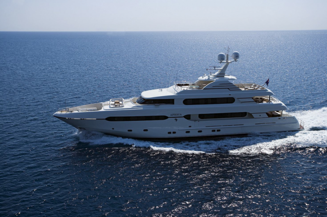 45m Sunrise motor yacht Africa - a sistership to the Sunset yacht due to be launched in 2013
