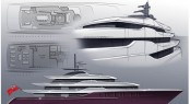 70m Eidsgaard Design yacht concept for Benetti Innovation Project