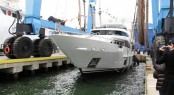 A sistership to Hull BD005 yacht - luxury motor yacht Azul at launch