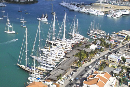 Aerial view of the Palapa Marina
