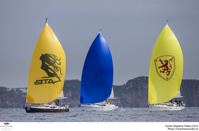 Beautiful Oyster yachts racing in the Oyster Palma Regatta