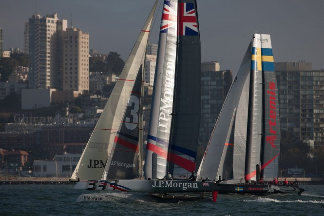 Ben Ainslie's J.P. Morgan BAR and Artemis Racing
