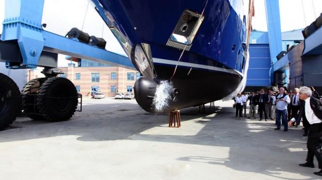 Benetti launching Hull BD005 yacht