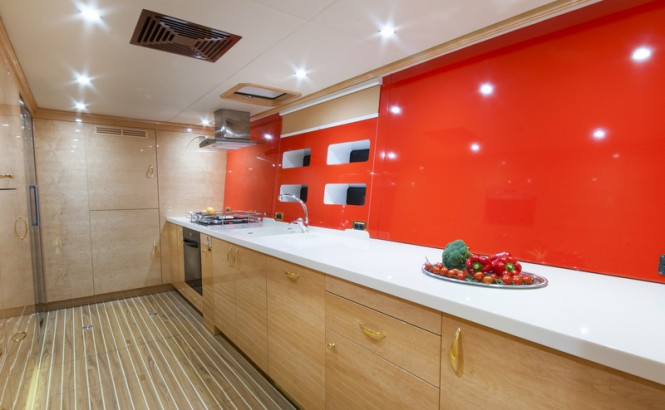 Catamaran yacht HOUBARA - Galley
