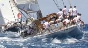 Charter yacht Ranger and Velsheda superyacht racing in the Caribbean - Photo by Claire Matches
