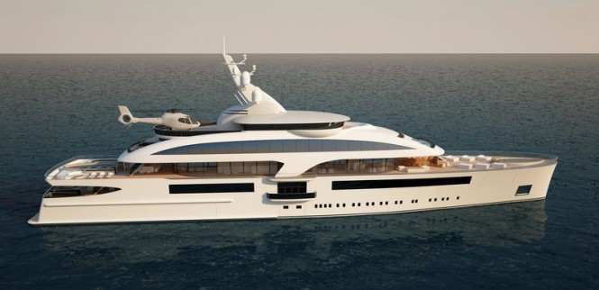 Cloud 90 yacht project - side view