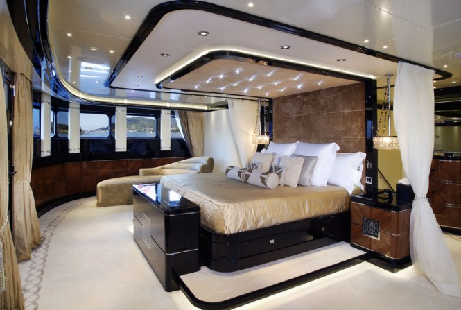 Elegant and comfortable cabins aboard superyacht Talisman C