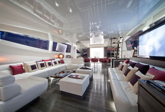 Elegant interior aboard superyacht Cerri 102' Flyingsport