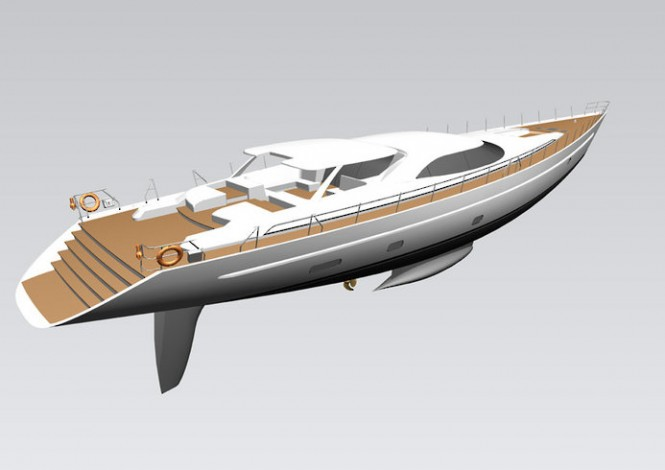 Encore superyacht - rear view