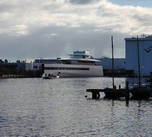 78m yacht VENUS launched by FEADSHIP