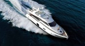 Ferretti 720 Yacht from above