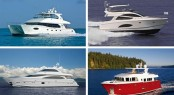 Four luxury yachts by Horizon currently on display at the 2012 FLIBS