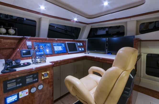 HOUBARA superyacht - Wheelhouse