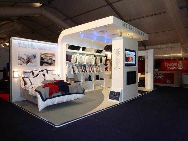 Heirlooms' new stand at the 2012 Monaco Yacht Show - Photo by Oxygen Exhibitions