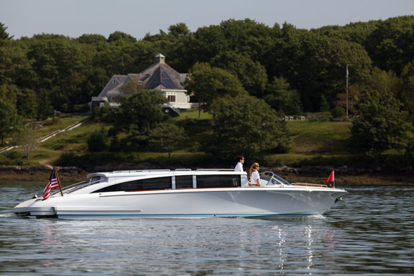 Hodgdon's Hull 413 yacht tender built for a prominent European shipyard