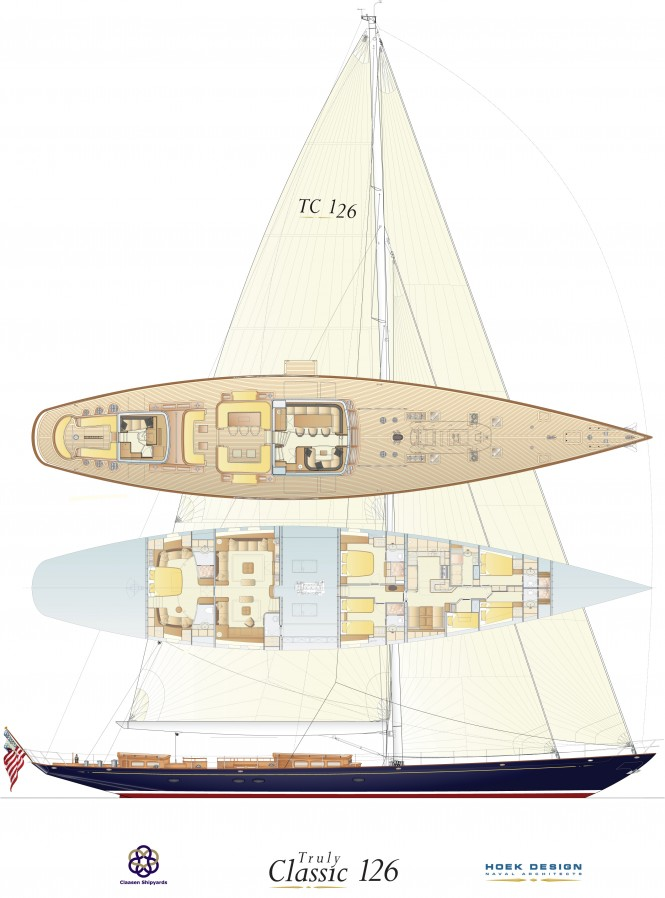 Hoek designed Truly Classic Sailing Yacht TC126