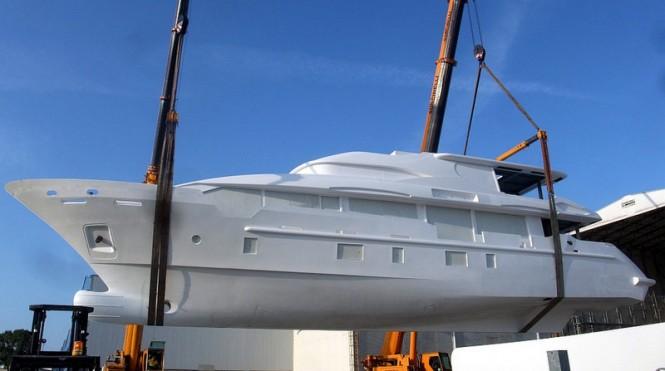 Hull BK001 superyacht - side view