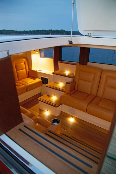 Interior at night - Hodgdon Hull 413 Yacht Tender