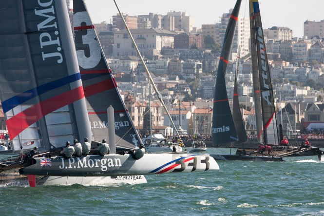 J.P. Morgan BAR and Artemis Racing on Final Racing Day