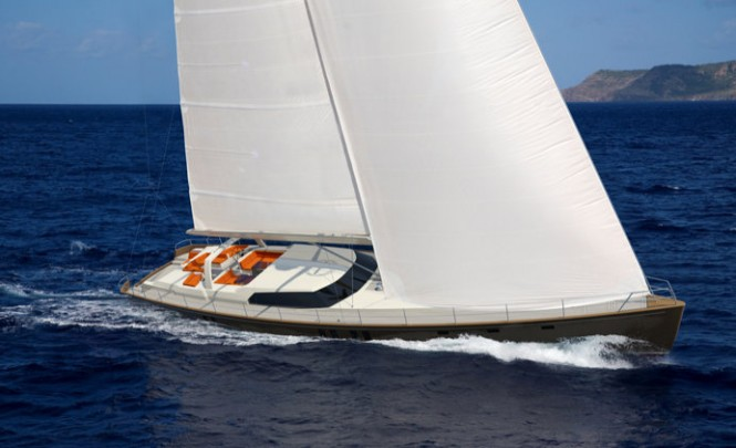 Jongert 3200P luxury yacht P1113 under sail