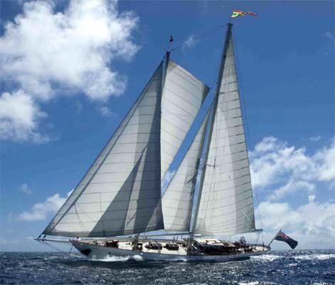 Jongert 38m sailing yacht GLORIA before refit