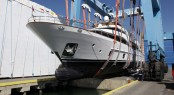 Launch of the Serenity yacht at Azimut-Benetti Group&#039;s Lusben company