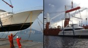 Loading of the Bravo 88' superyacht at Hong Kong and her offloading at Palm Beach