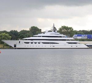 Sea trials for the 88m Lurssen megayacht QUATTROELLE (Project Bellissimo)