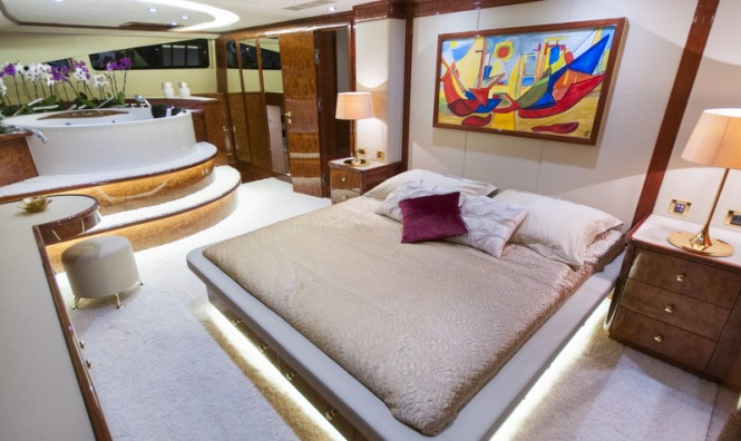 Luxurious cabins aboard superyacht HOUBARA