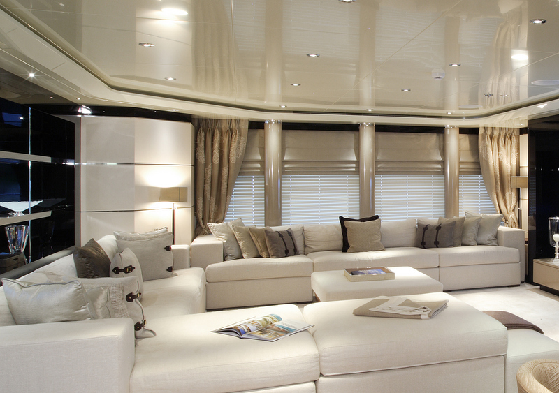 Luxurious interior aboard talisman c megayacht oceanair presents an