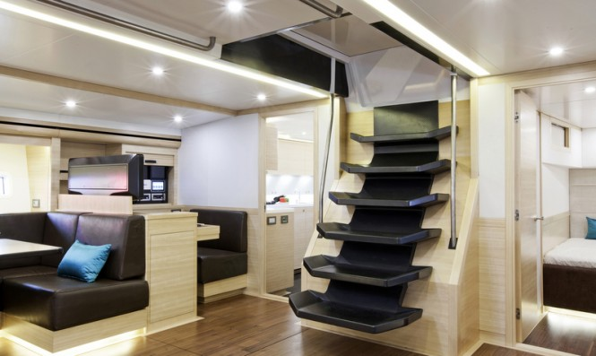 Luxurious interior aboard superyacht Hamilton
