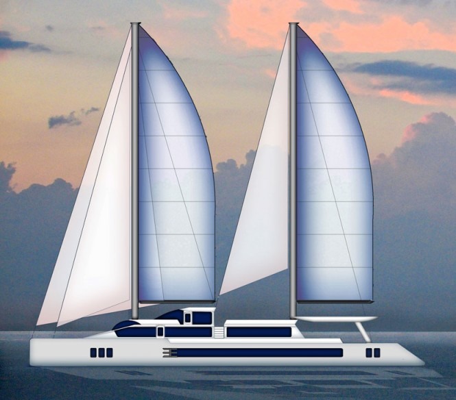 Luxury catamaran yacht Paracas 120 concept by Paracas Yachts