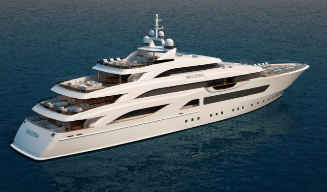 Luxury megayacht Principessa 72 project