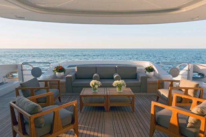 Luxury motor yacht Papi du Papi - Aft Deck - Photo Credits @ Marc Paris
