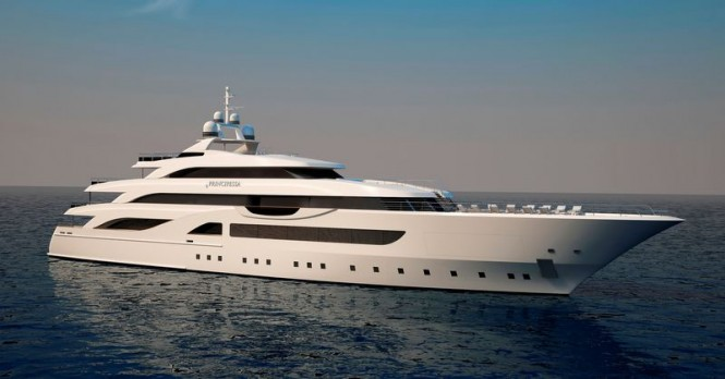 Luxury motor yacht Principessa 72 project designed by Marco Casali