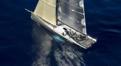 Luxury sailing yacht Ran 2 finds it slow going between the Strait and Stromboli - photo by Rolex Kurt Arrigo