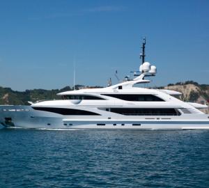Images of the 50m ISA Yachts PAPI DU PAPI superyacht with interior by Francesco Paszkowski
