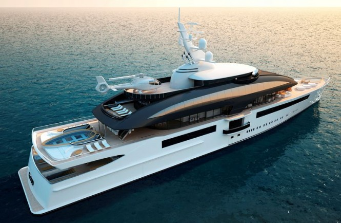 Luxury yacht Cloud 90 project