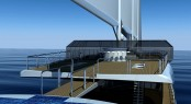 Luxury yacht &#039;Sail Cruise Vessel&#039; concept - Bridge