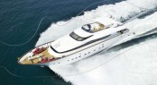 Maiora 96 superyacht boasting the Seakeeper's M21000 gyro