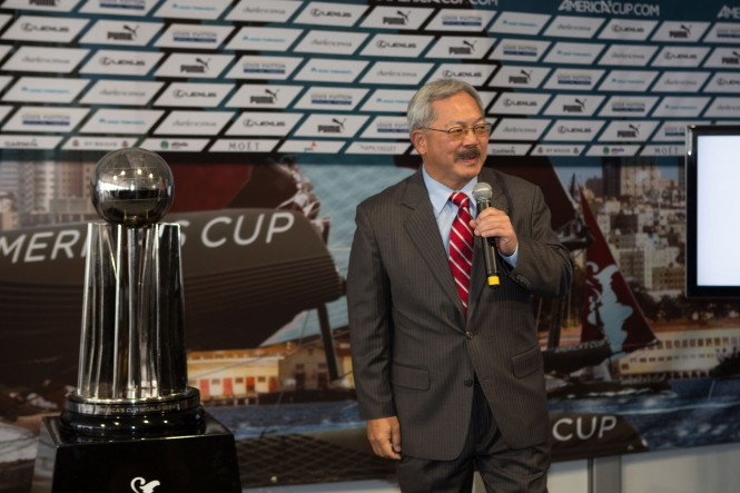 Mayor Lee thanks America's Cup for showcasing San Francisco in an international setting © ACEA/Gilles Martin-Raget