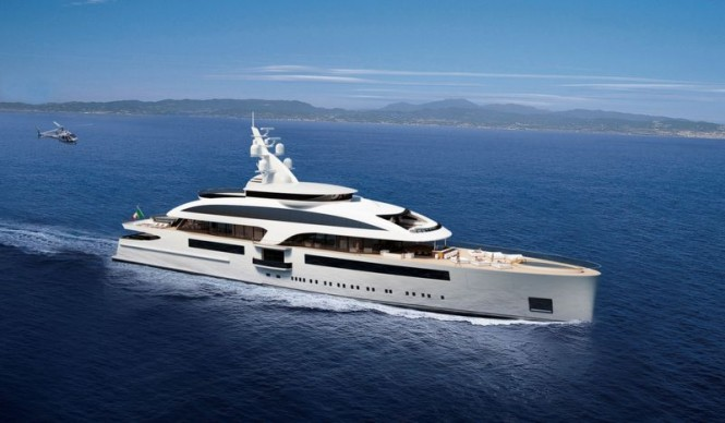 Megayacht Cloud 90 project designed by Marco Casali