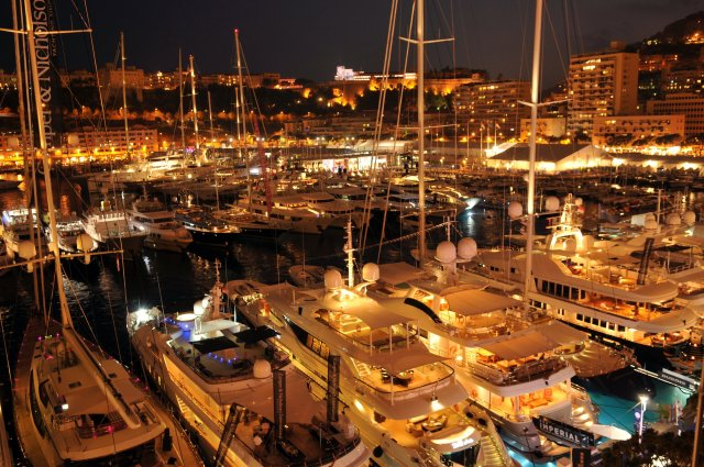 Monaco Yacht Show 2012 by night