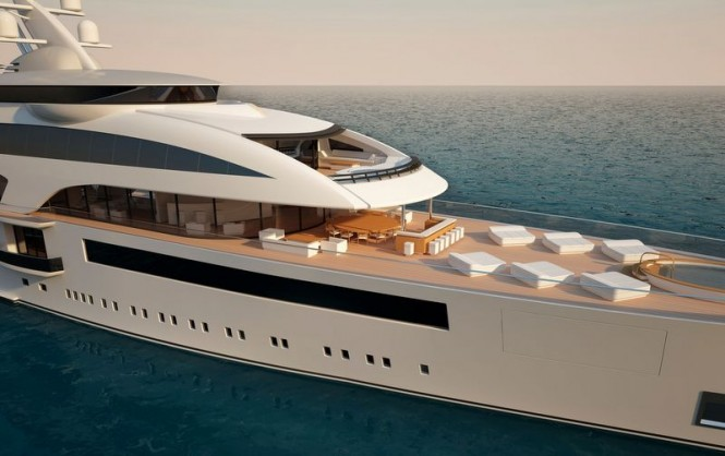 Luxurious exterior aboard Cloud 90 yacht