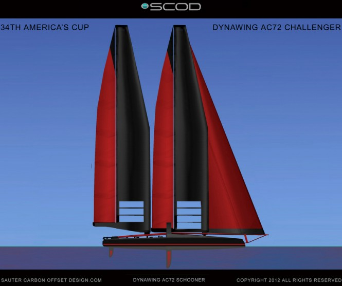 New DynaWing AC72 yacht designed by SCOD