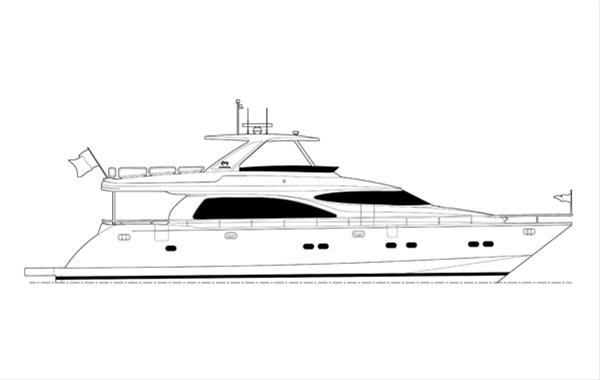 New Horizon E73 Yacht by Horizon Yachts